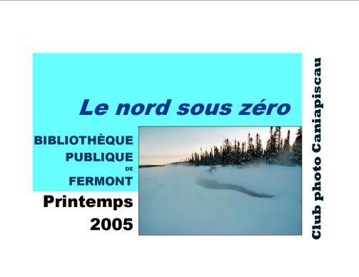 1 Le nord sous zéro affiche