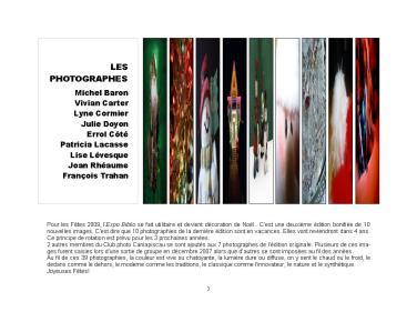 9-13-17-20 Expo Biblio Les fêtes photographes
